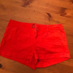 Forever 21 red cuffed shorts